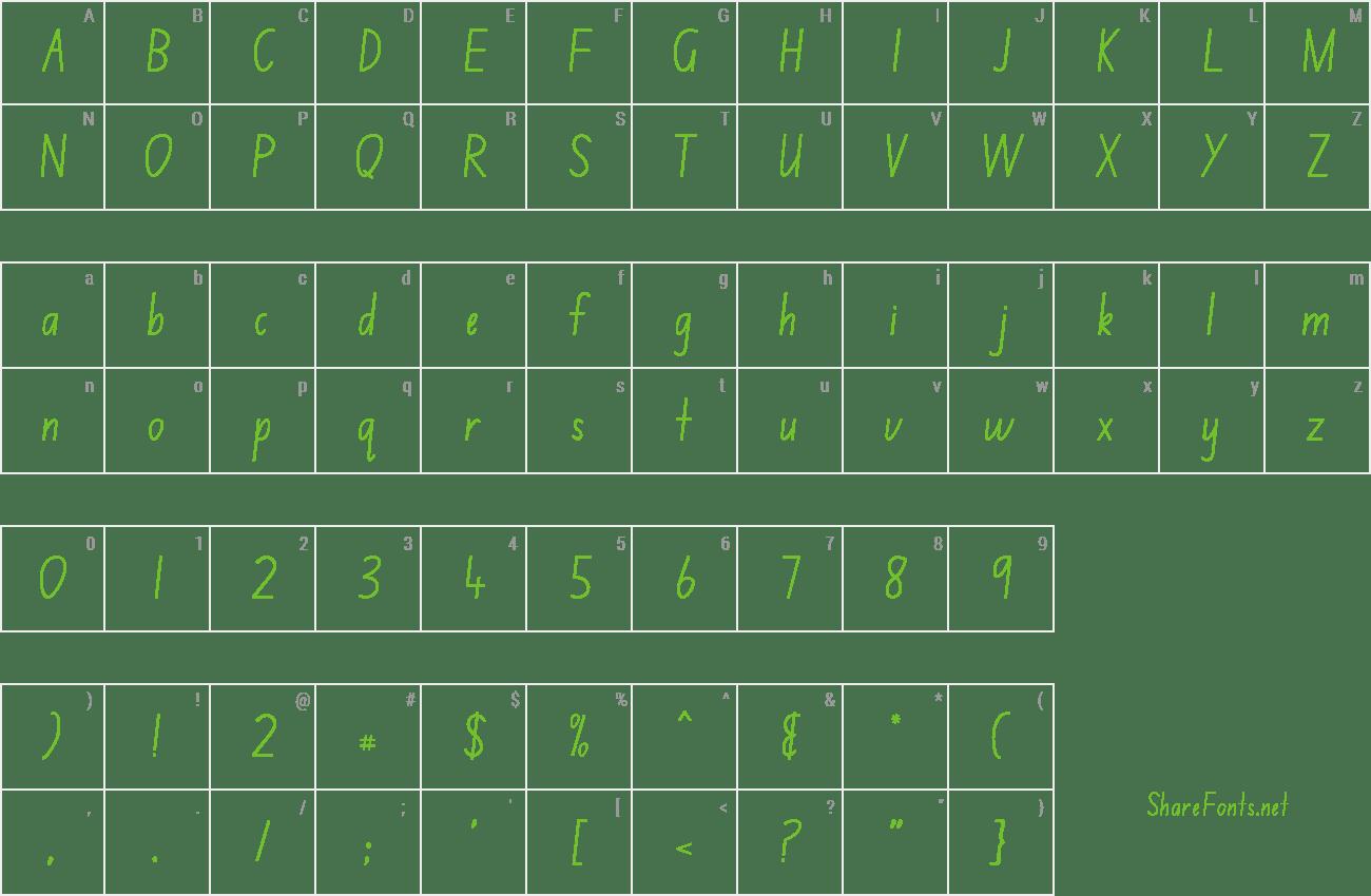 Download Free Font Nsw School Handwriting