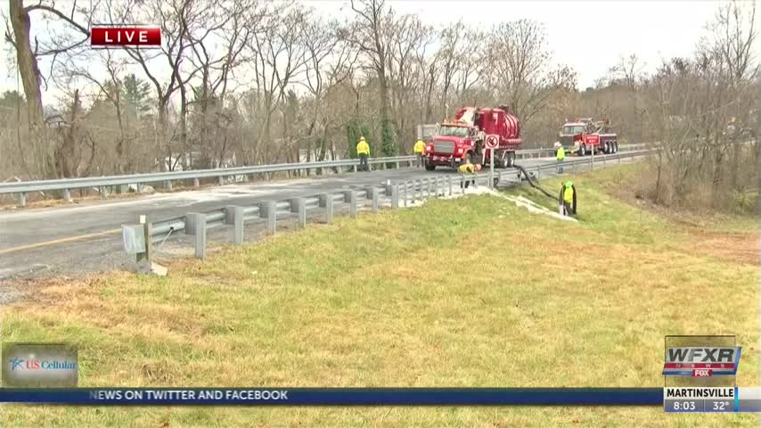 Exit 137 off I-81 in Salem closed after tractor trailer fire_48131123
