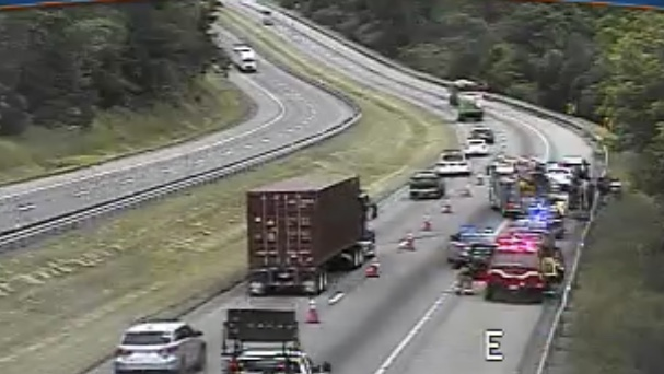 Multi-vehicle accident causing traffic delays on I-81