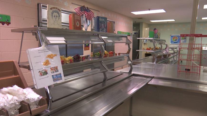 Bedford Elementary School cafeteria