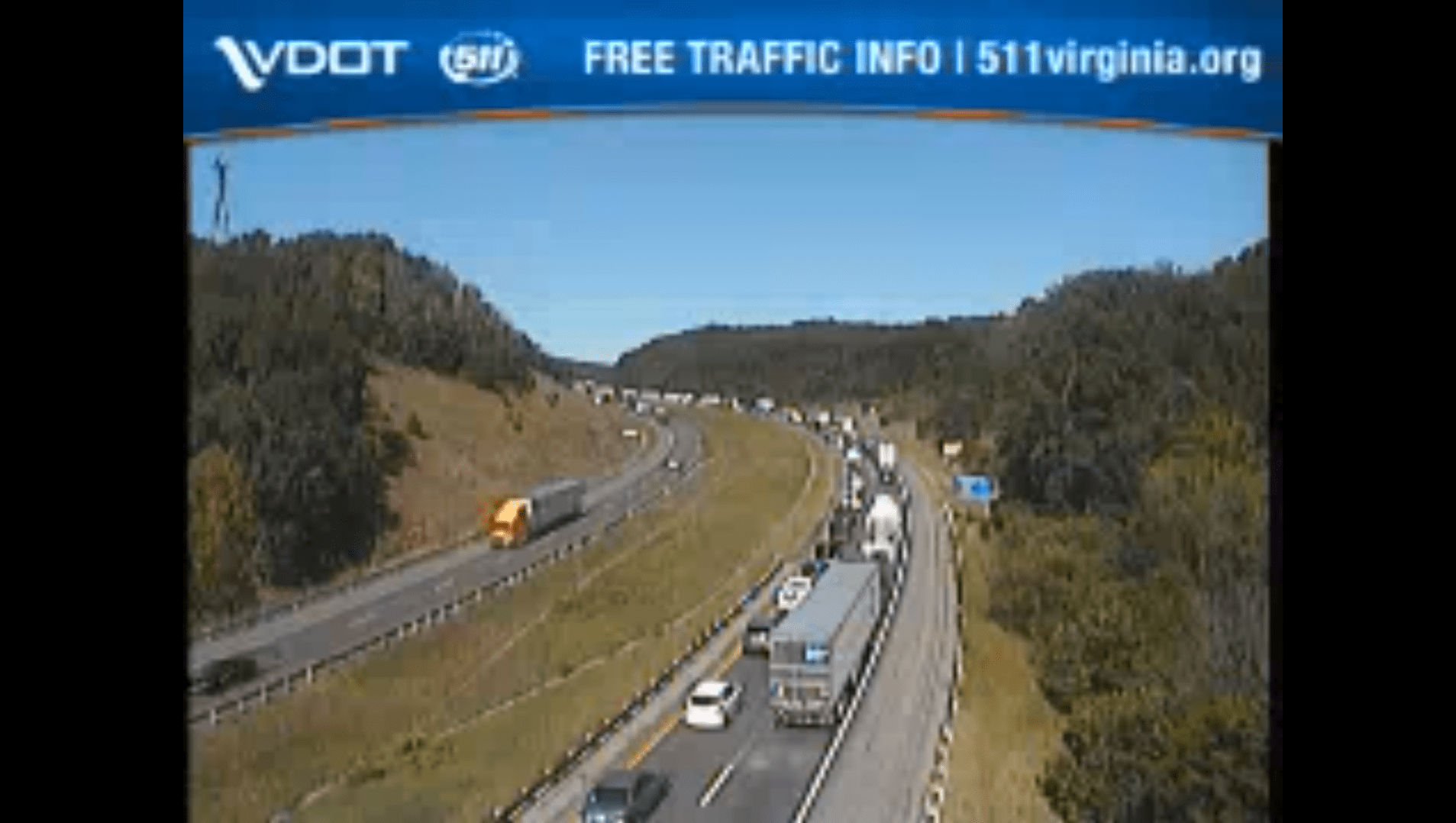 Tractor trailer accident in Roanoke Co  causes 9-mile backup