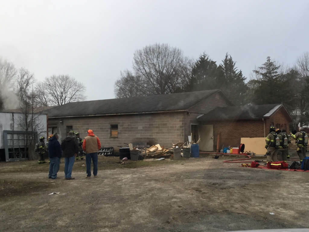 Crews quickly put down a fire in a cabinet shop on Halifax Drive in Danville Monday morning. (Photo: Courtesy Danville Fire Department)