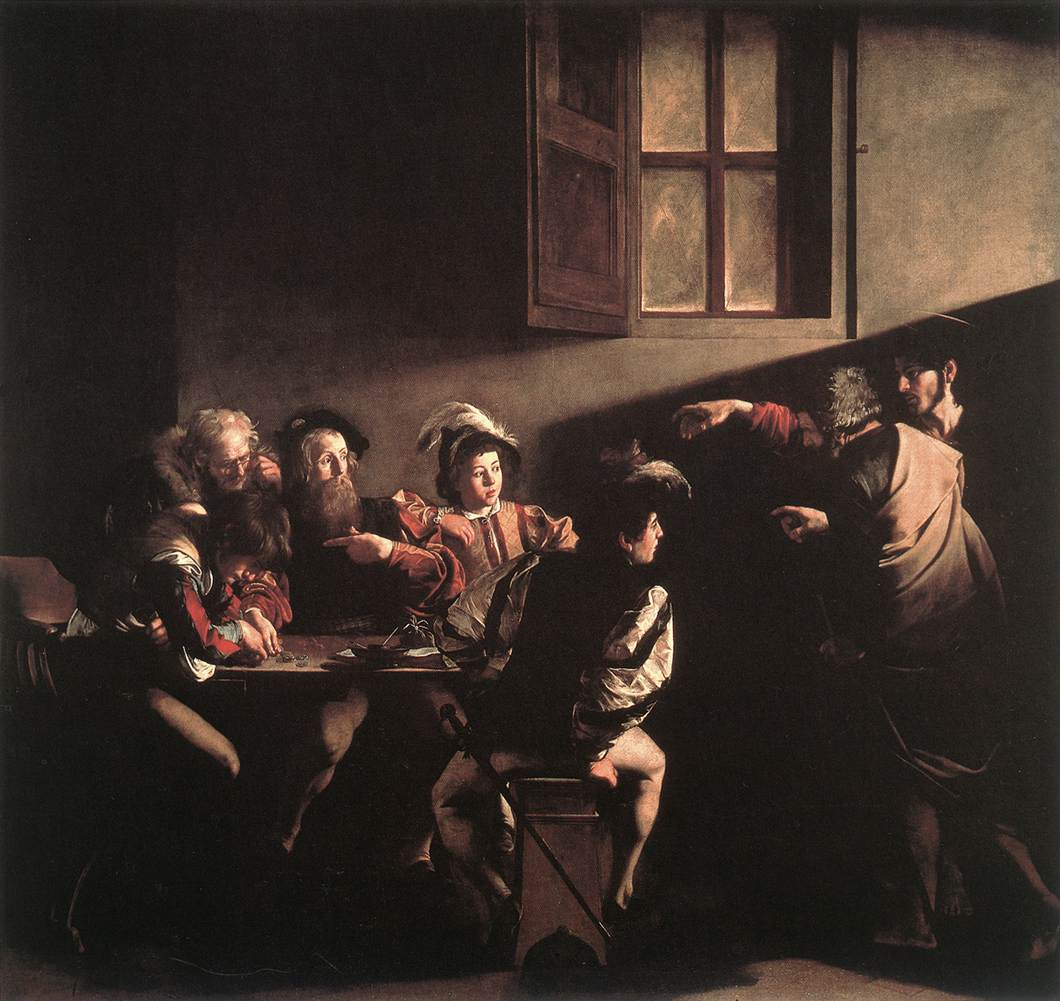 The Calling of Matthew by Caravaggio