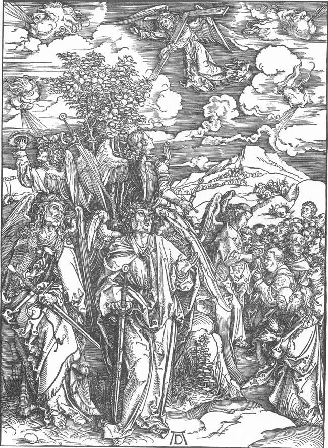 Albrecht Dürer Four Angels Staying the Winds and Signing the Chosen // Larry Hunt Bible Commentary