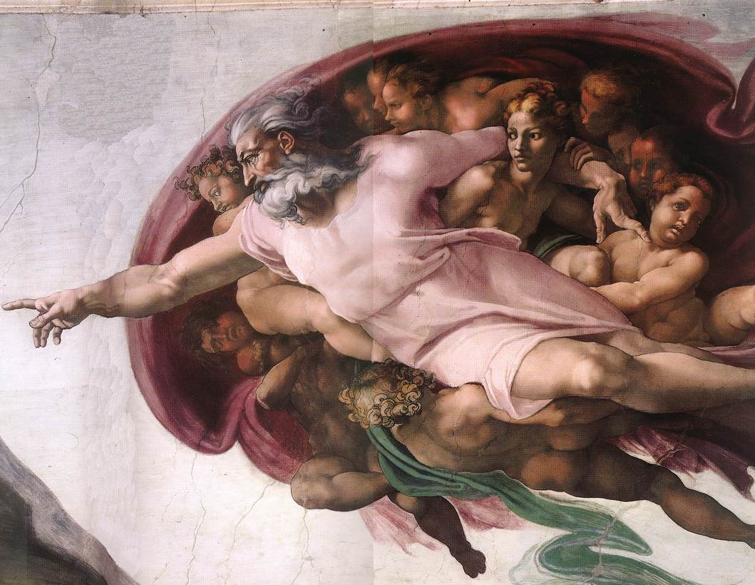 Michelangelo, detail from The Creation of Adam