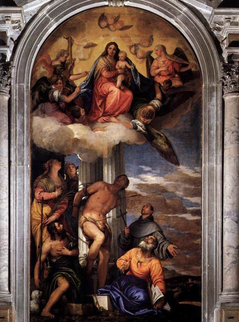 "Veronese: ""Virgin and Child with Saints"", San Sebastian Church"