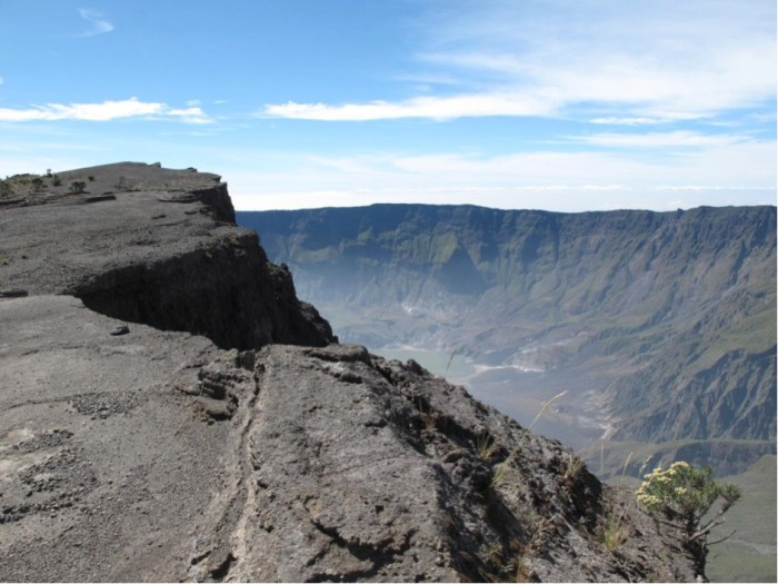 The 1815 summit caldera of Tambora volcano, Sumbawa, Indonesia.
