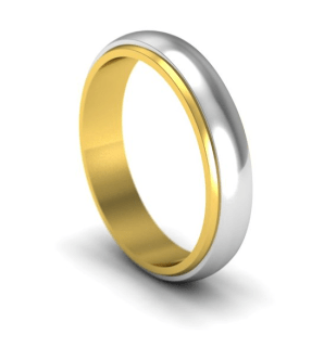 Bi Colour Wedding Rings By W G Jewellery W G JEWELLERY
