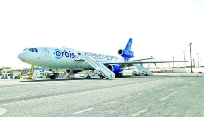Qatar Airways hosts tours on board Orbis Flying Eye Hospital