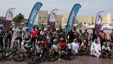 Cycling buffs cross finish line on 511-km Qatar ride