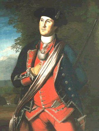 El retrato Más Temprano de Washington, pintado en 1772 por Charles Willson Peale, Demuestra Washington es uniforme Como Coronel del regimiento de Virginia