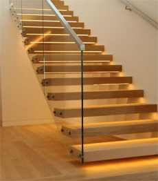 Wall Mounted Steel Stringer Oak Tread Stairs Floating Staircase | Floating Wood Stair Treads | Stair Nosing | Stair Railing | Stair Parts | Viewrail | Trade Assurance
