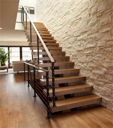 Villa House Contemporary Customized Solid Wood Stairs Staircase | Solid Oak Stair Stringers | Mono Stringer | Handrail | Steel Stair | Deck Stairs | Flooring