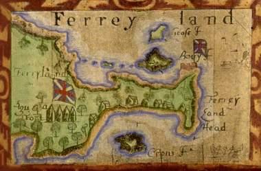 Map of Ferryland, Newfoundland