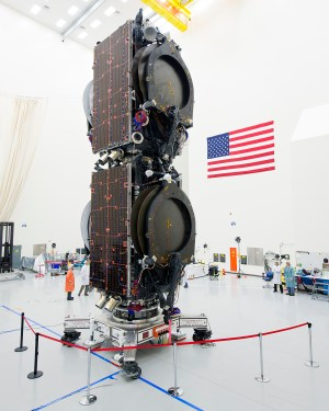 Boeing's stacked satellites | Image credit: Boeing