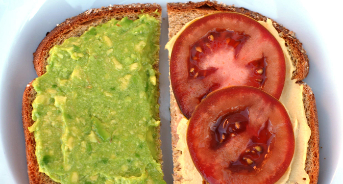 Avocado, Tomato, and Hummus: An Easy and Healthy Toddler Sandwich!