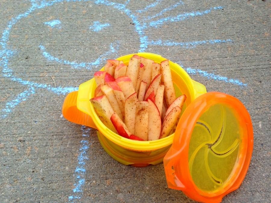 Apple Cinnamon Sticks: Healthy Toddler To Go Snack!