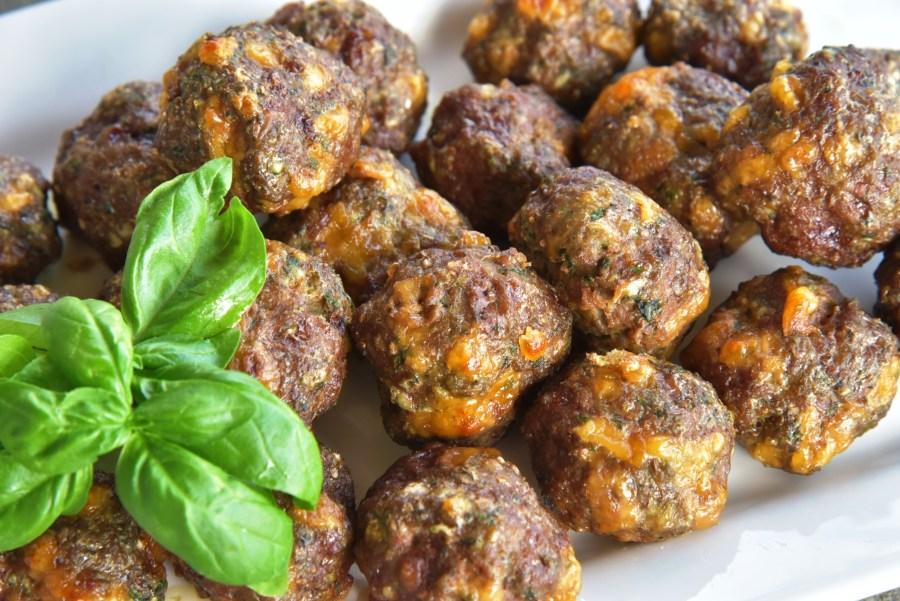 Spinach Basil Meatballs