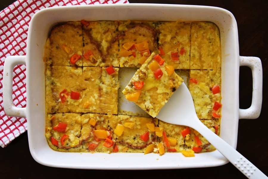 Egg and Toast Squares, Breakfast To Go!