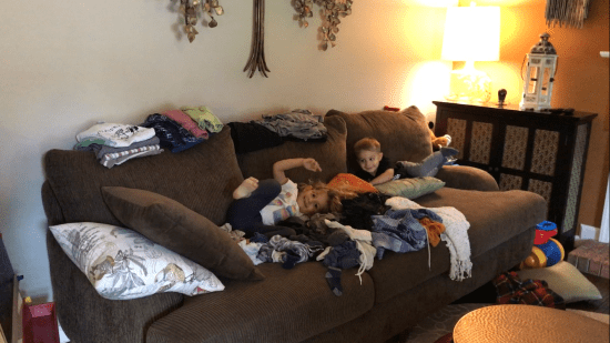 One mom's day in the life with a one year old and three year old