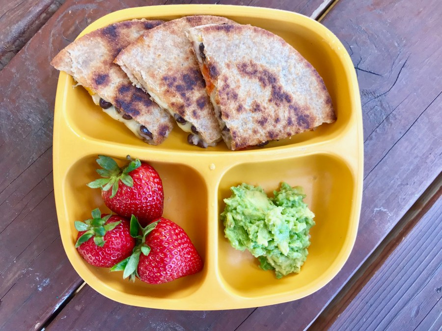 Black Bean & Veggie Kiddie Quesadilla Recipe