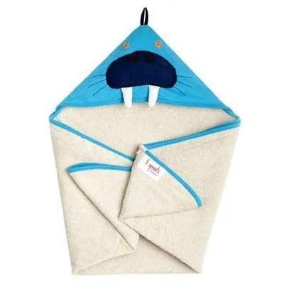 3 Sprouts Hooded Towel - Walrus