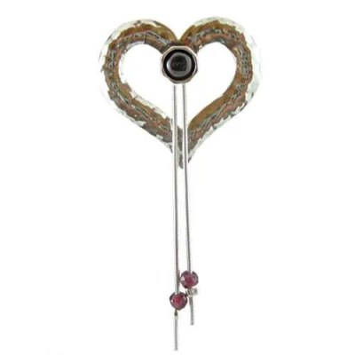 Silver Heart Brooch