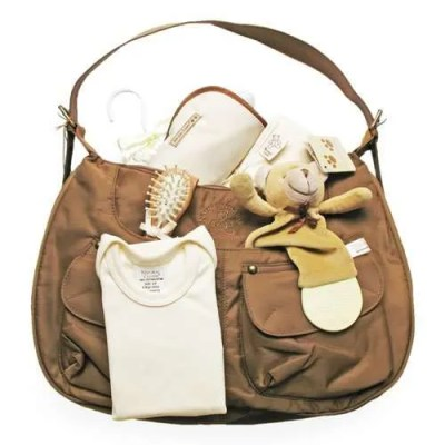 Diaper Bag Filled with Baby Accessories