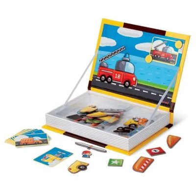 Janod Magnetic Book Vehicle