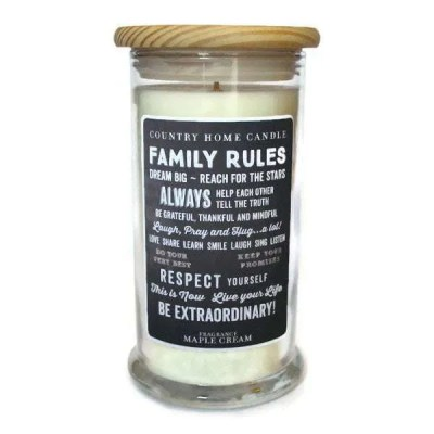 Family Rules Candle