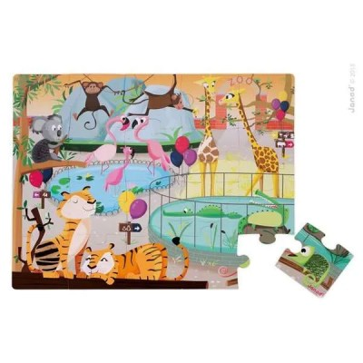 Tactile Zoo Puzzle by Janod