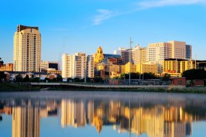 A wide shot of Rochester, Minnesota.