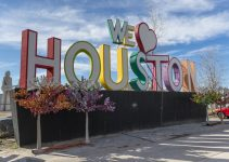 "An image of a ""We Love Houston"" sign."