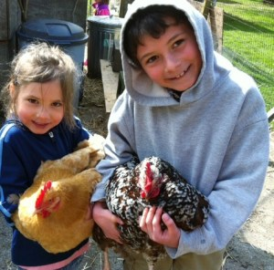 Hands-on adventures with farm animals is one of the highlights of the Spring Break Camp at Common Threads Farm.  Photo credit Laura Plaut
