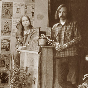 Chris Foss and Foster Rose are pictured on the first day Greenhouse opened for business, in 1972.