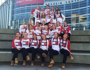 Under Weston's expert guidance, the BHS Dance team made it all the way to nationals. Photo courtesy: BHS Dance.