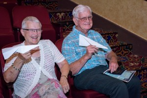 While not generally allowed, some patrons got to live out a life-long dream of launching a paper airplane from the balcony at MBT's free public event. Photo courtesy: Mount Baker Theatre.