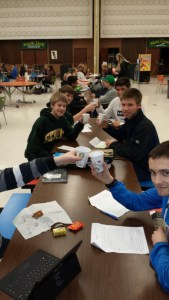 Healthy snacks, often donated by local businesses, are provided at each meeting. Photo courtesy: Sehome High School.