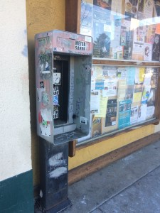 """""""There is a communication happening on the booth currently through graffiti and stickers, so we want to be aware of that,"""" shared Summer Starr. Photo credit: Sara Holodnick."""