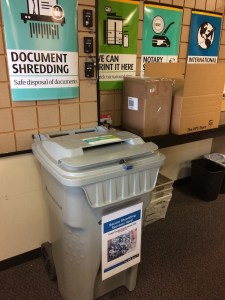 The UPS Store offers safe document disposal with convenient shredding services. Photo credit: Sara Holodnick.