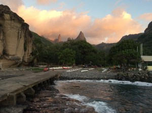 A Village in Oa Pua with the rugged mountains in the background. Photo courtesy: Virginia Malmquist.
