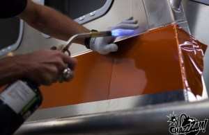 Wrapping a vehicle allows for more efficiency and precision than painting does. Photo credit: Katie Ann Plick.