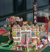 The Holiday Port Festival Gingerbread House Contest is free and open to bakers of all ages and abilities. Entries don't have to be houses---they don't even have to be made out of gingerbread! Structures just need to be visibly edible. Photo courtesy: Port of Bellingham.