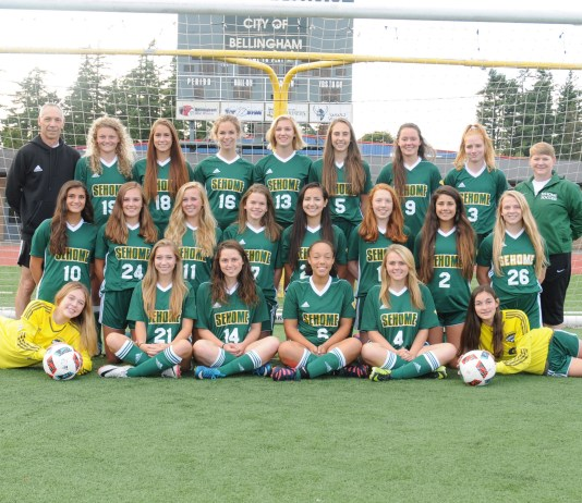 The Lynden Christian fastpitch team with a combined GPA of 3.780 - the highest among 1A programs. Lynden Christian