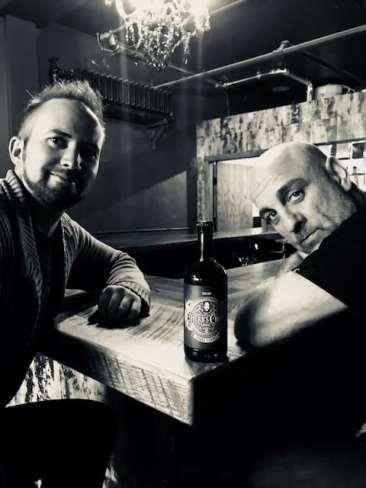 Tim and Head Cider Maker Chris Weir. Photo courtesy: Herb's Cider.
