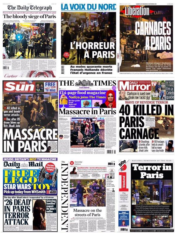 Media reports of massacre