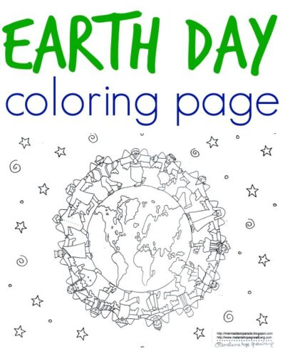 Free Earth Day coloring page to print