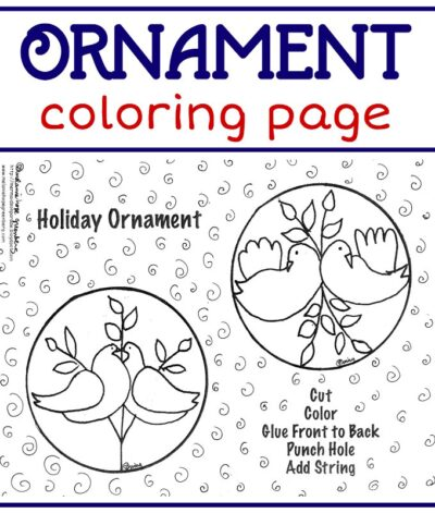 christmas ornament coloring page # 38
