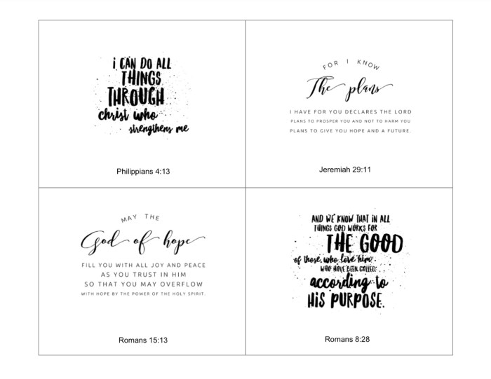 Black and White Scripture Cards