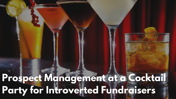 Prospect Management at a Cocktail Party for Introverted Fundraisers